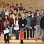 Die 9b besucht den Landtag NRW