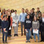 Die 9d zu Besuch im Landtag NRW